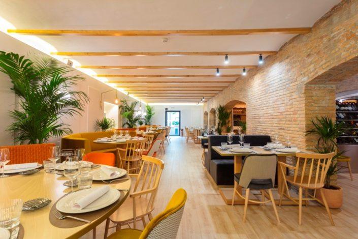 Vista del salón del restaurante María de la O