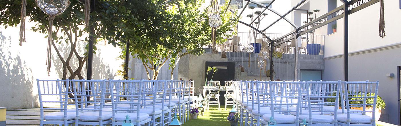 Montaje para celebración de boda civil en Granada