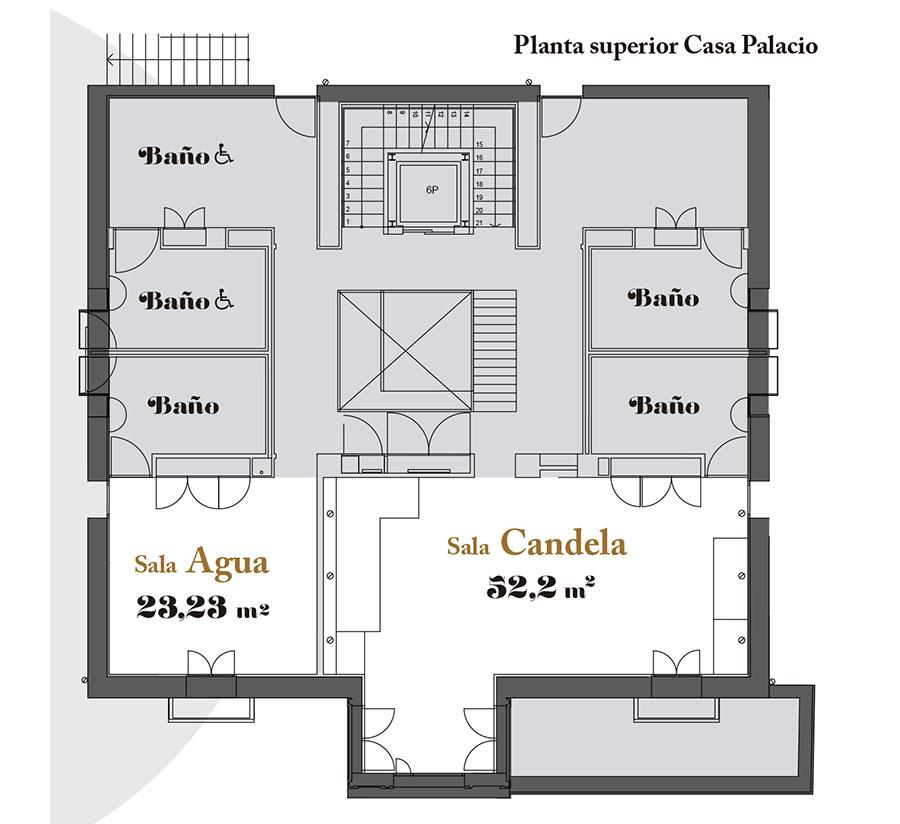 Plano Casa Palacio María de la O