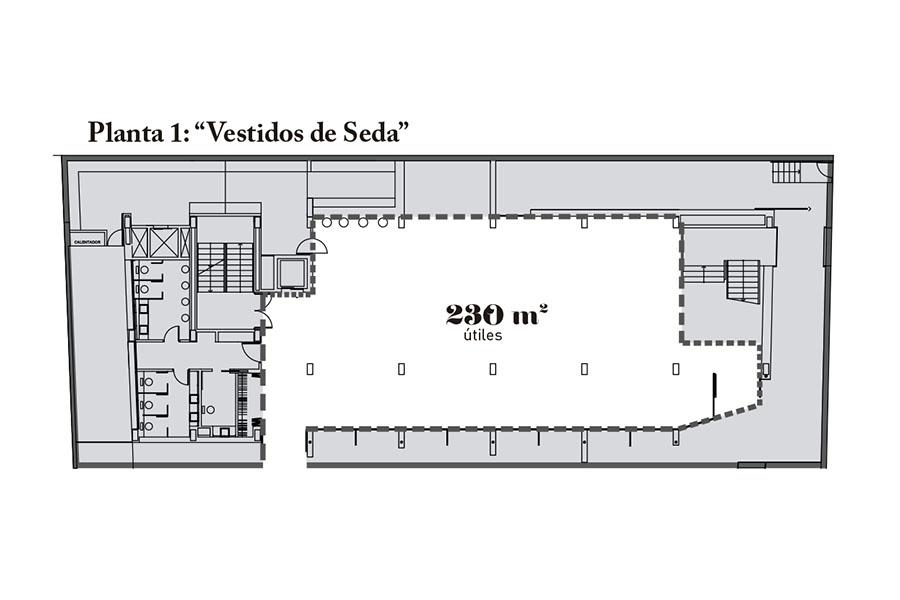 Plano Planta 1 Salón de Eventos María de la O