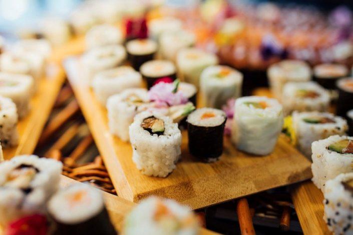 Mesa de Sushi para celebración de eventos