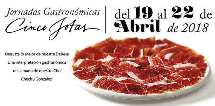 Imagen promocional de la jornada gastronómica 5 jotas