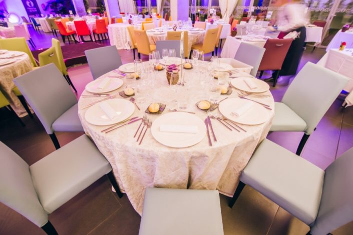 Cena de gala realizada en el restaurante María de la O en Granada