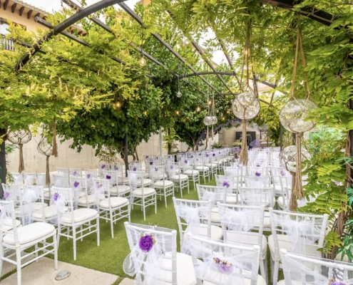 Montaje para boda civil al aire libre