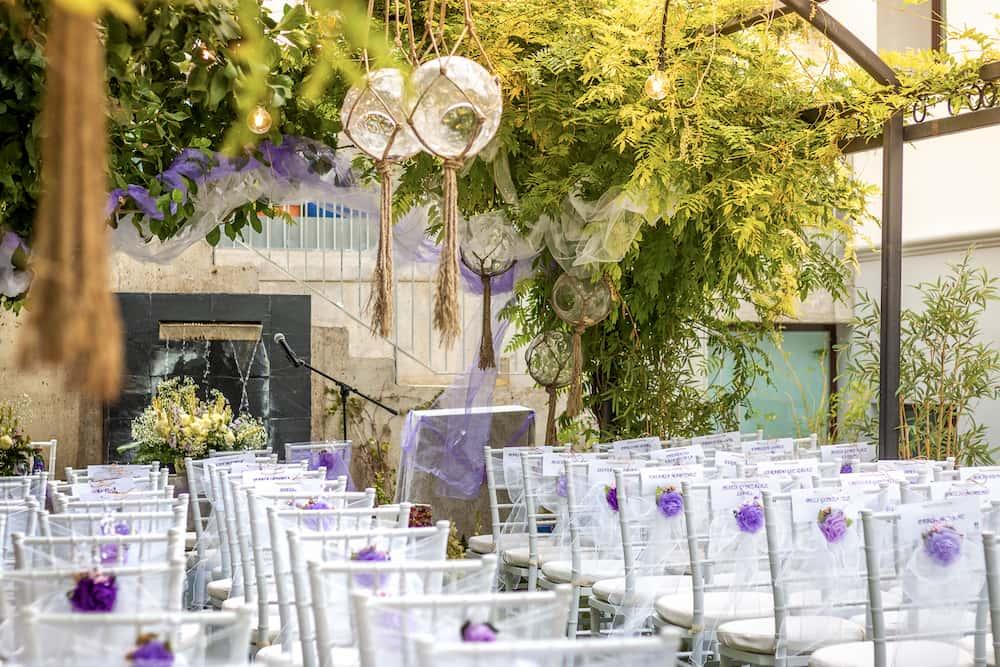 Celebración de boda civil en María de la O