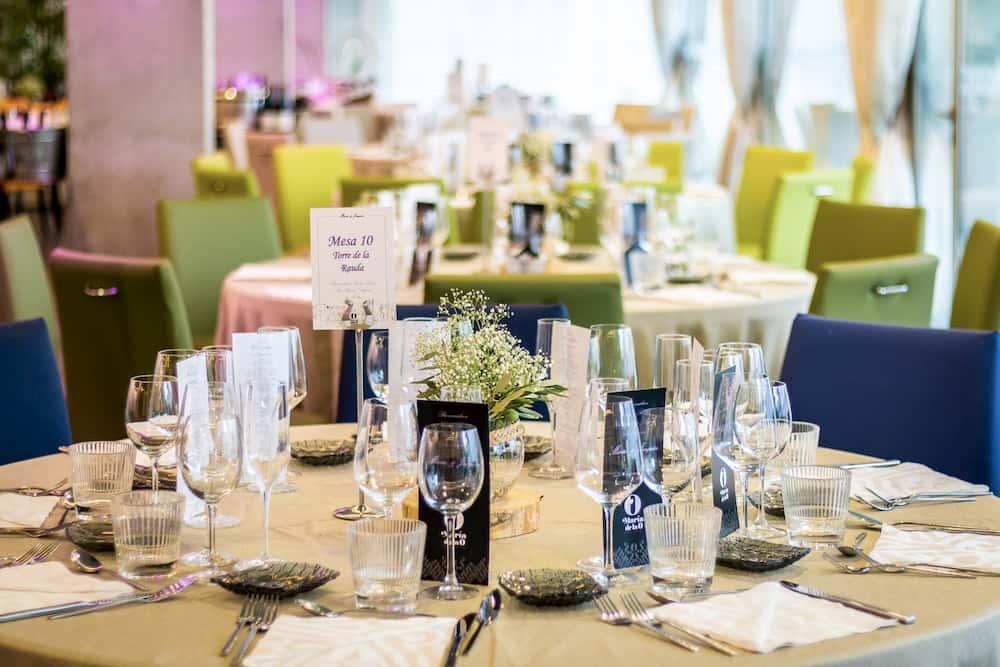 Mesa para banquete de boda en Granada
