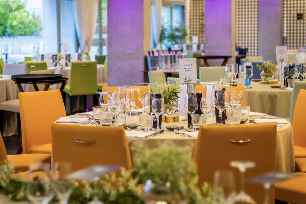 Montajde salón de celebraciones de para boda